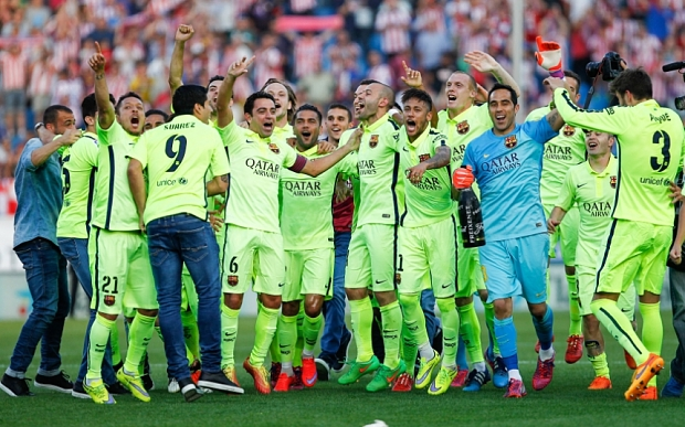 Atletico Madrid v Barcelona, La Liga Football, Vicente Calderon Stadium, Madrid, Spain - 17  May 2015